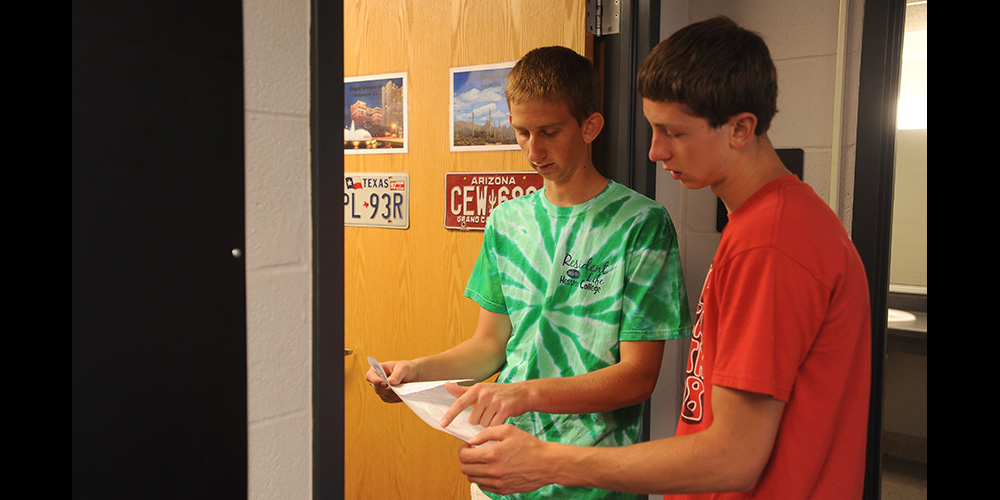 Hesston College students move into the dorm