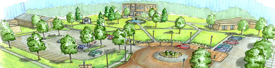 Hesston College campus entry - artist's rendering