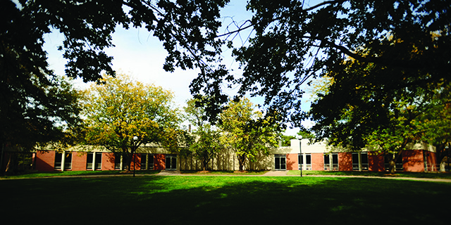 Northlawn, the music and theatre building on the Hesston College campus