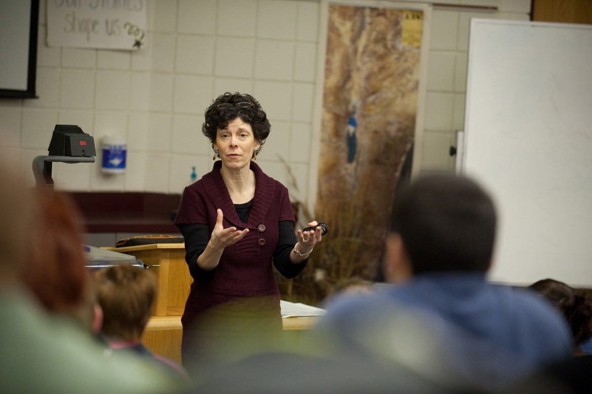 Hesston College Bible and Ministry instructor Michele Hershberger teaches Biblical Literature.