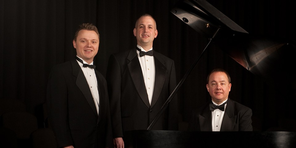 Music faculty members Bradley Kauffman, Matthew Schloneger and Ken Rodgers