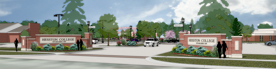 artist's rendering of new campus entry