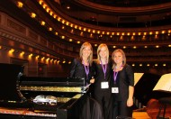 Hesston College Bel Canto Singers members on the Carnegie Hall stage