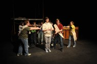 photo from spring 2009 Hesston College production of Godspell