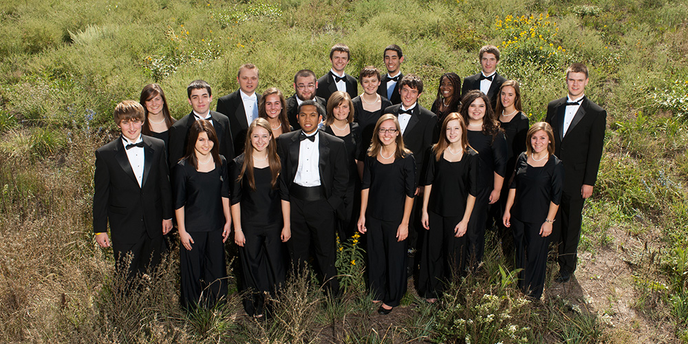 "The Hesston College Bel Canto Singers CD ""Songs of a Wayfarer"" is for sale with proceeds going to the Hesston College Inclusion Scholarship and Mennonite Economic Development Associates' financial inclusion programs."