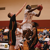 Mahlon Jones goes in for a lay-up.