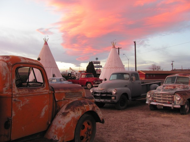 "The Wigwam Village in Holbrook, Ariz., is one of the pieces that make up Erika Nelson's show ""Stories from the Road,"" featured in the Hesston College Regier Friesen Gallery Sept. 16 to Oct. 18."