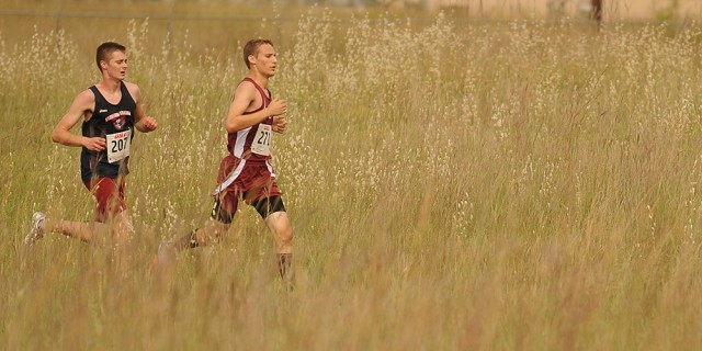 mens-cross-country stock image