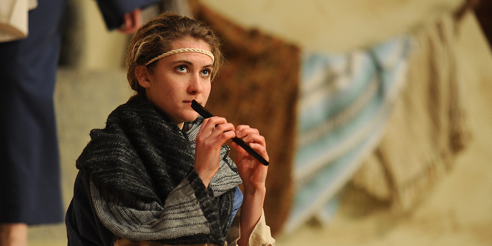 Hesston College freshman Rachelle Adrian as Amahl in Amahl and the Night Visitors