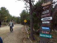 Hesston College cross country team trip to Colorado, fall 2013