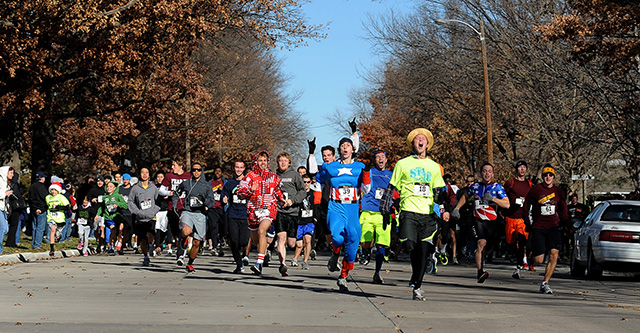 Runners begin the 2012 Howard Hustle. The two-mile run/walk will be a part of Thanksgiving Weekend activities for the 2013 celebration as well.