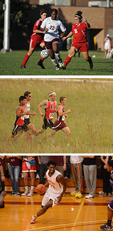 Hesston College women's soccer, men's cross country and men's basketball photos