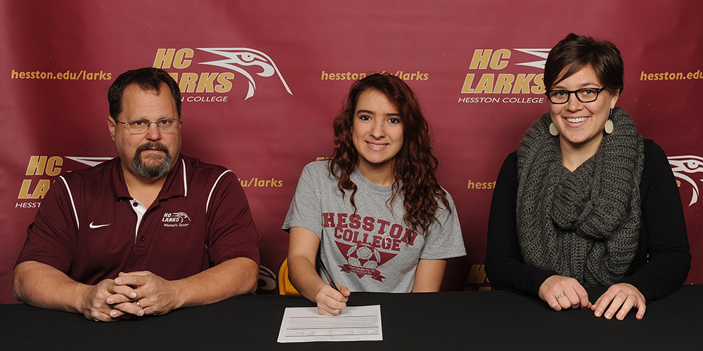 Kaye Soto signs to play soccer for Hesston College.