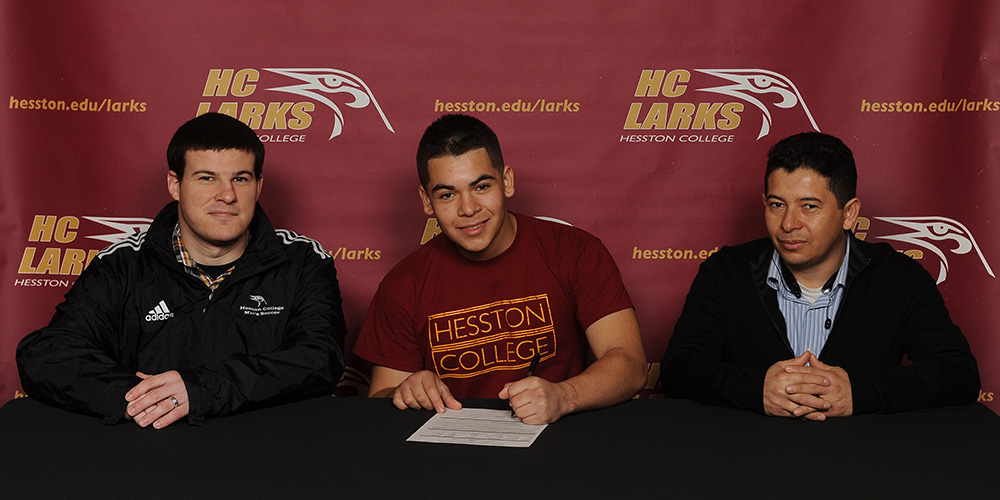 Josh Benavides signs to play soccer for Hesston College.