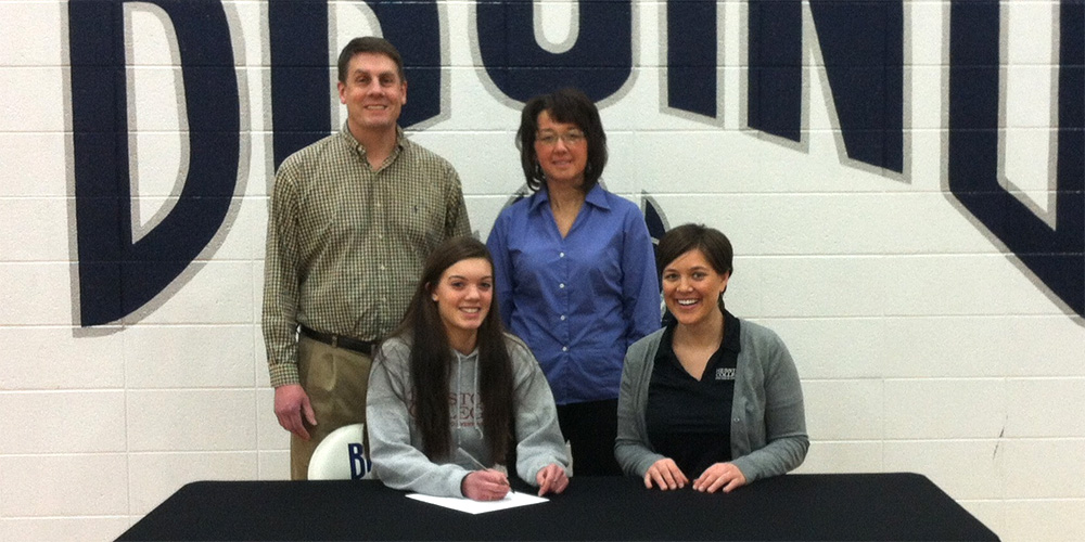 Brooke Hershberger signs to play volleyball for Hesston College.