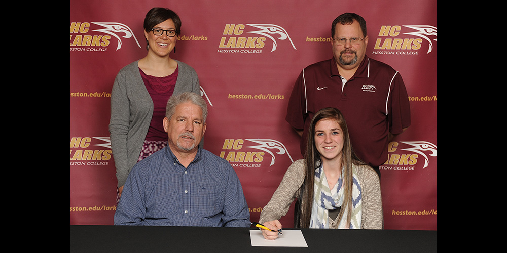 Jaymee Bowers signs to play soccer for Hesston College.