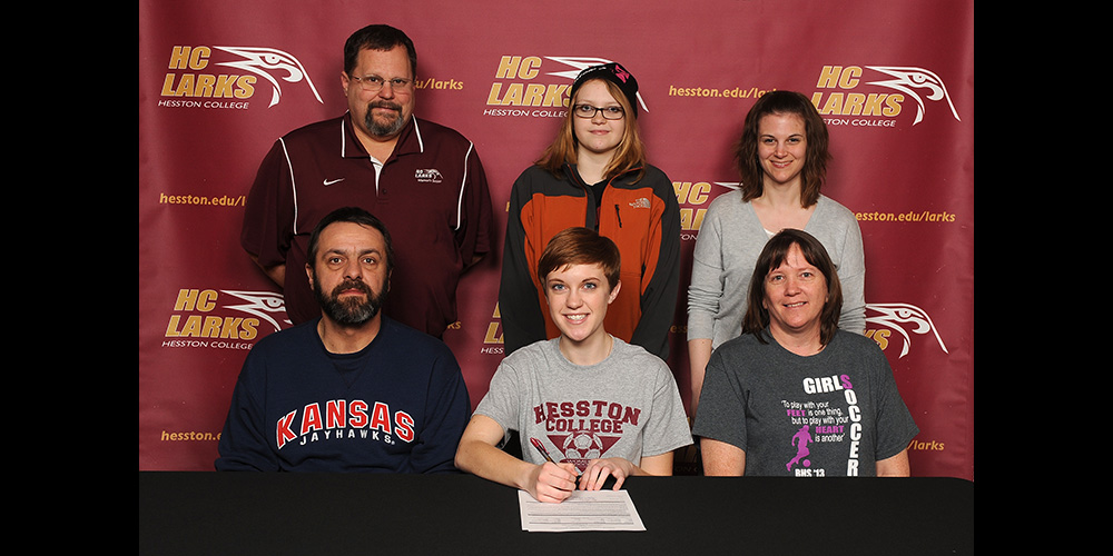 Jenna Von Bargen signs to play soccer for Hesston College.