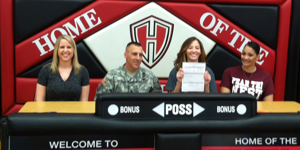Karli Rodriguez signs to play volleyball for Hesston College.