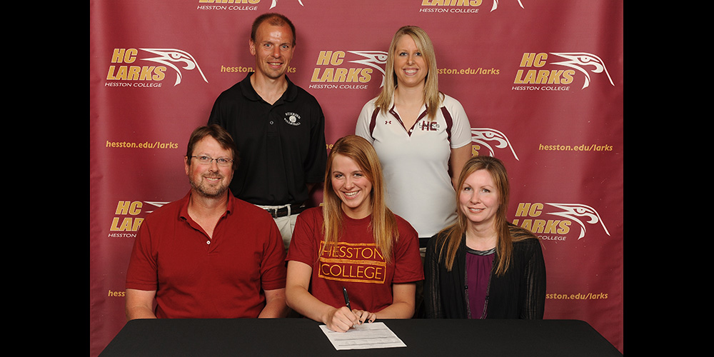 Sarah Stephens signs to play volleyball for Hesston College.