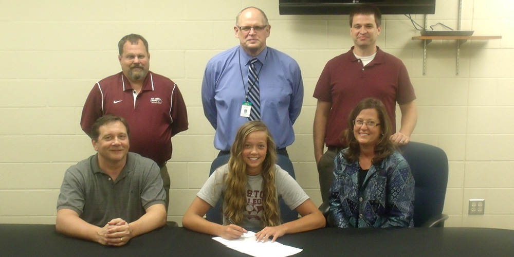 Mikaela Zook signs to play soccer for Hesston College.