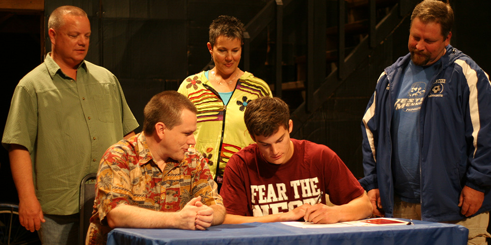 Oliver Wisseman signs to play soccer for Hesston College.