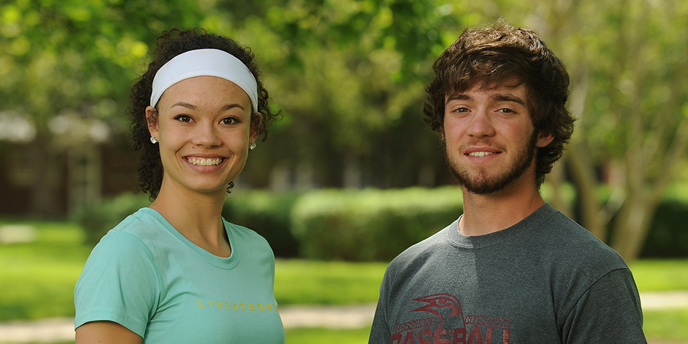 2013-14 Hesston College student athletes of the year Makayla Ladwig and Nick Yoder