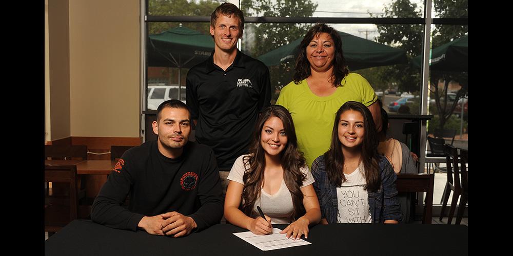 Alicia Ramirez signs to play softball for Hesston College.