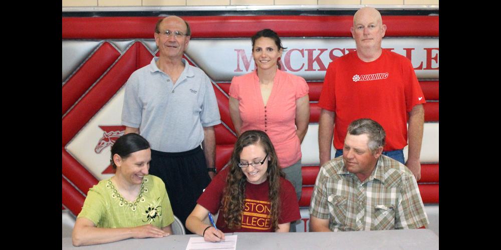 Anna Penner signs to run cross country for Hesston College.