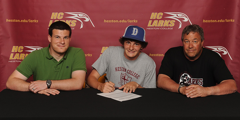 Cody Lebert signs to play soccer for Hesston College
