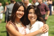 Yoshie Ueno celebrates her Hesston College graduation with her mother, Kayo.