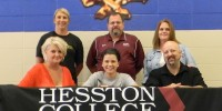 Chase Spencer signs a letter of intent to play soccer for Hesston College