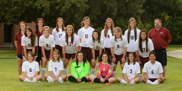 2014 Hesston College women's soccer team photo