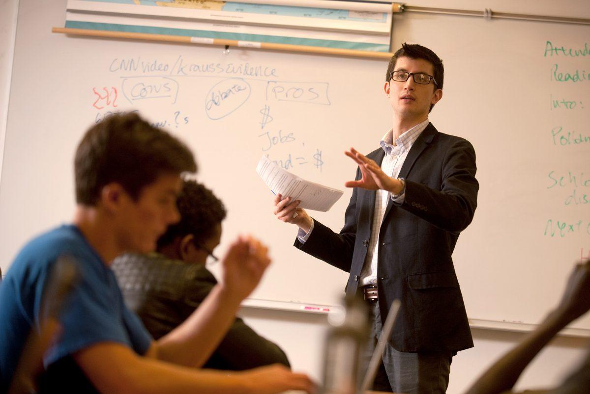 English prof Donovan Tann lectures
