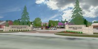 artist's rendering of the proposed Hesston College campus entry