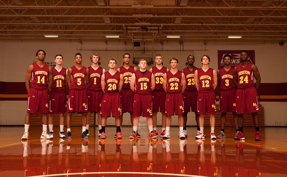 2014-115 Hesston College Men's Basketball team photo