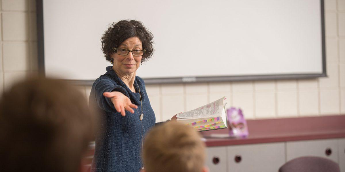 Michele Hershberger presents a Biblical Literature lecture.