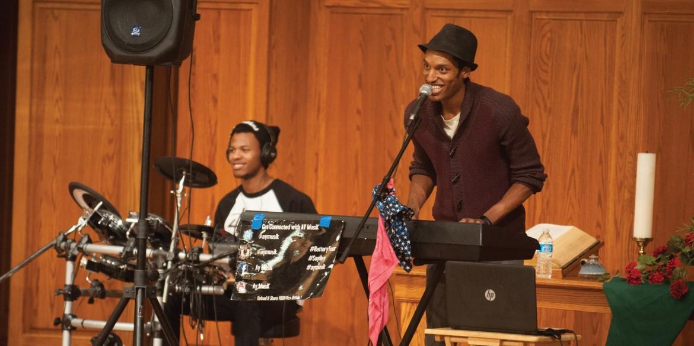 AY MusiK performs at Homecoming Chapel 2014
