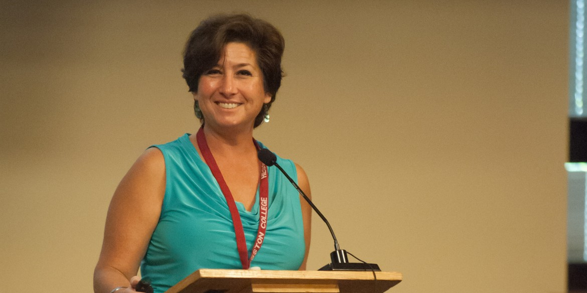 Lisa Guedea Carreno speaks at a Go Everywhere seminar during Homecoming 2014.