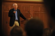 Author Blaine Harden speaks at Hesston College