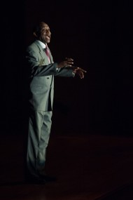 """Tony Brown performs """"I Go On Singing"""" at Homecoming 2014"""