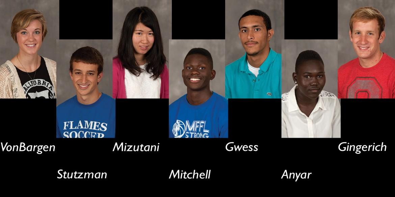 mug shots of selected Hesston students