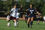 Hesston College women's soccer action photo