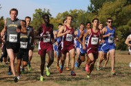 Hesston College men's cross country action photo by Alex Leff