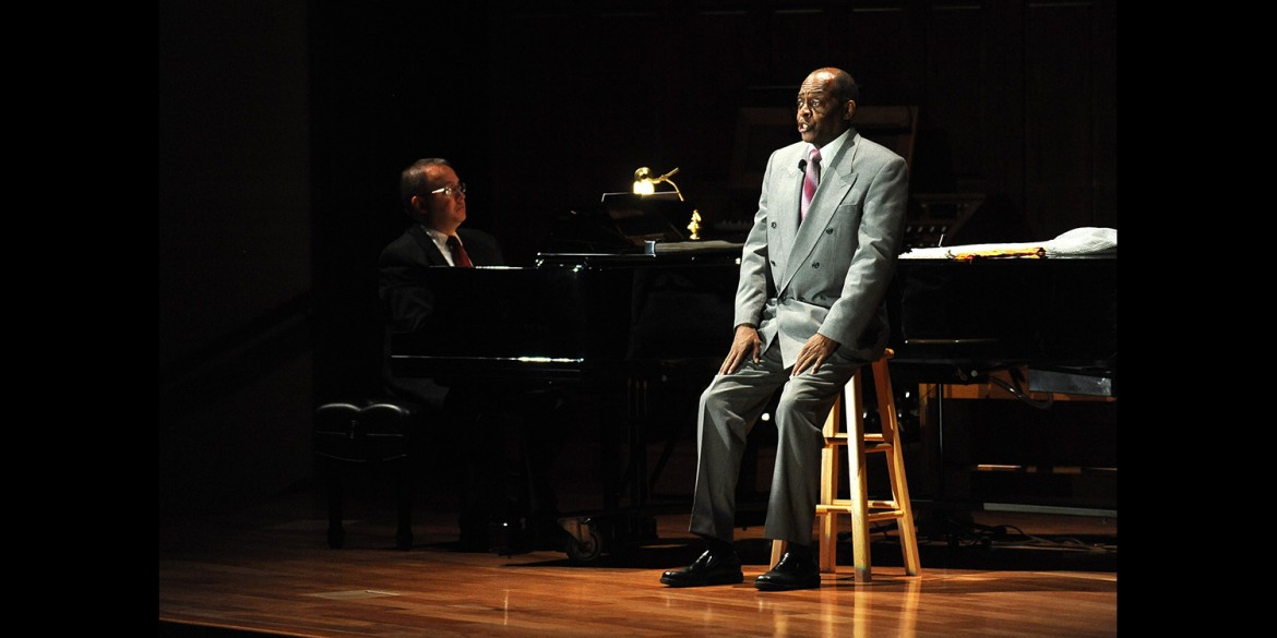 Tony Brown performs I Go On Singing, a tribute to Paul Robeson, at Hesston College Homecoming 2014.