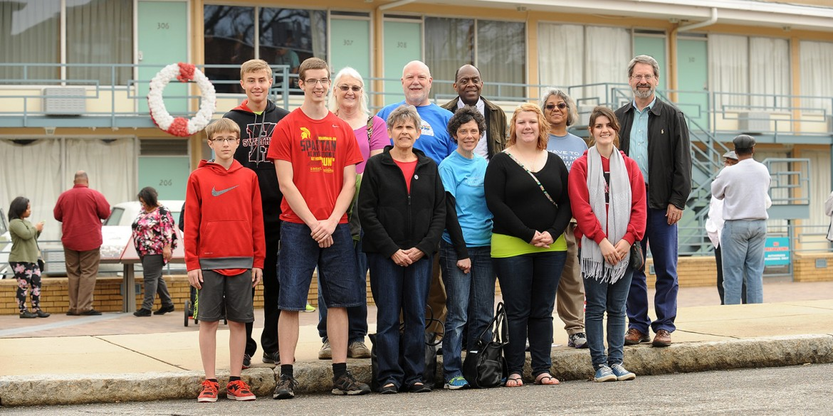 The Hesston College civil rights seminar group