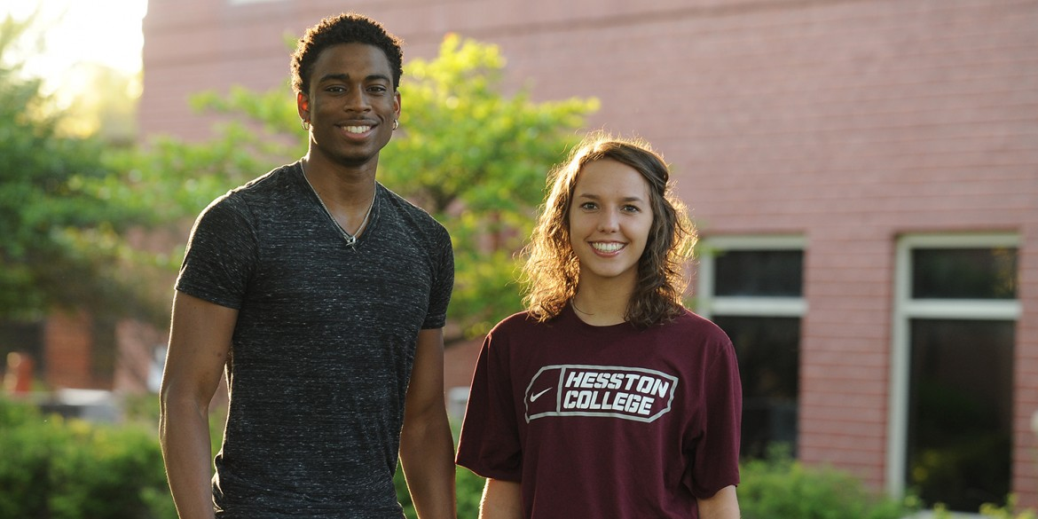 2015-16 Hesston College Student Athletes of the Year Malcolm Mann and Samantha Rimann