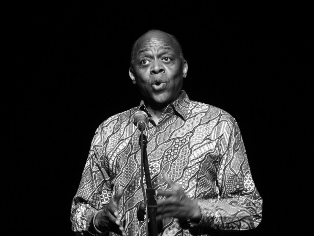 Tony Brown sings in Indonesia. Photo by Dave Osborne.
