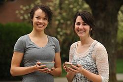 2015 Larks of the Year Makayla Ladwig and Elisabeth Wilder