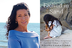 Regina Calcaterra, author of Etched in Sand