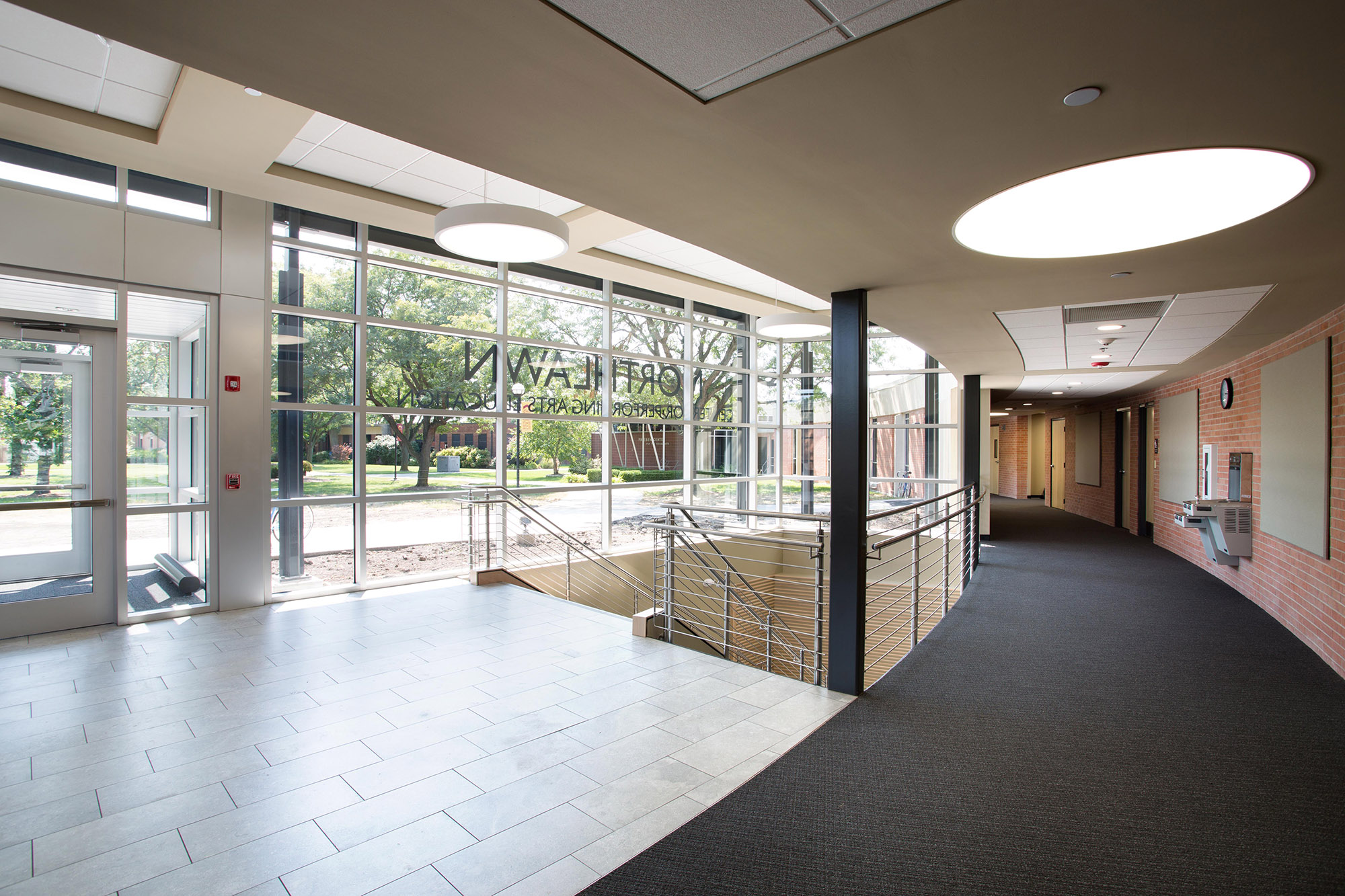 Keim Center entry interior